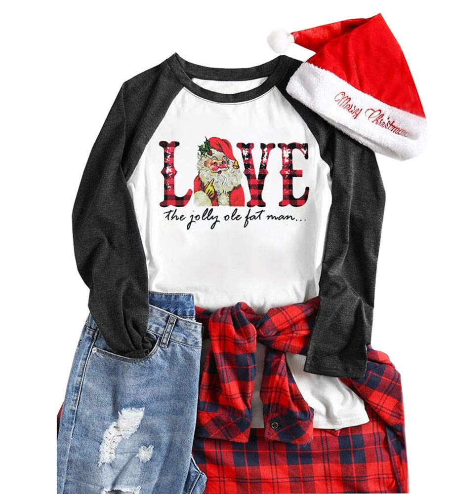 Chulianyouhuo Women Just Hangin with My Gnomies Shirt Christmas Short Sleeve Hoilday Tee Tops