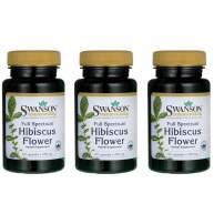 Swanson Full Spectrum Hibiscus Flower 400 Milligrams 60 Capsules 3 Pack