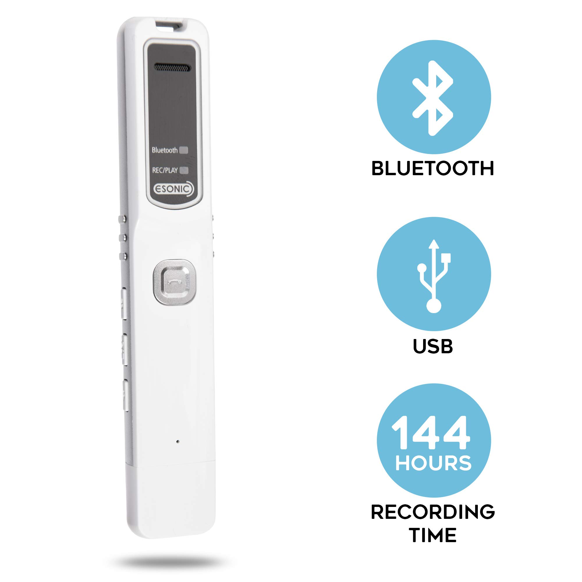 SpyCentre Security - Bluetooth Cell Phone Recording Device with Built-in 8GB Flash Drive & 20-Hour Battery