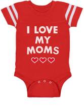 I Love My Moms - Gay Pride Infant Baby Jersey Bodysuit