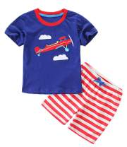 BTGIXSF Toddler Boys Cotton Clothing Sets T-Shirt and Shorts Set Kids Summer Outfits
