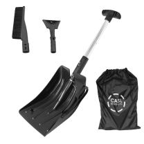 CASL Brands 3-in-1 Emergency Snow Shovel Removal Kit for Car and Truck, Portable Compact Design, Includes Carrying Bag, Scraper, and Brush