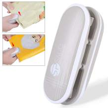 Mini Bag Sealer,Handheld Portable Mini Heat Sealer Kitchen Sealing Machine and Cutter for Plastic Bags Food Storage Snack Fresh Bag Sealer or Chip Saver(Battery Not Included) (Gray)