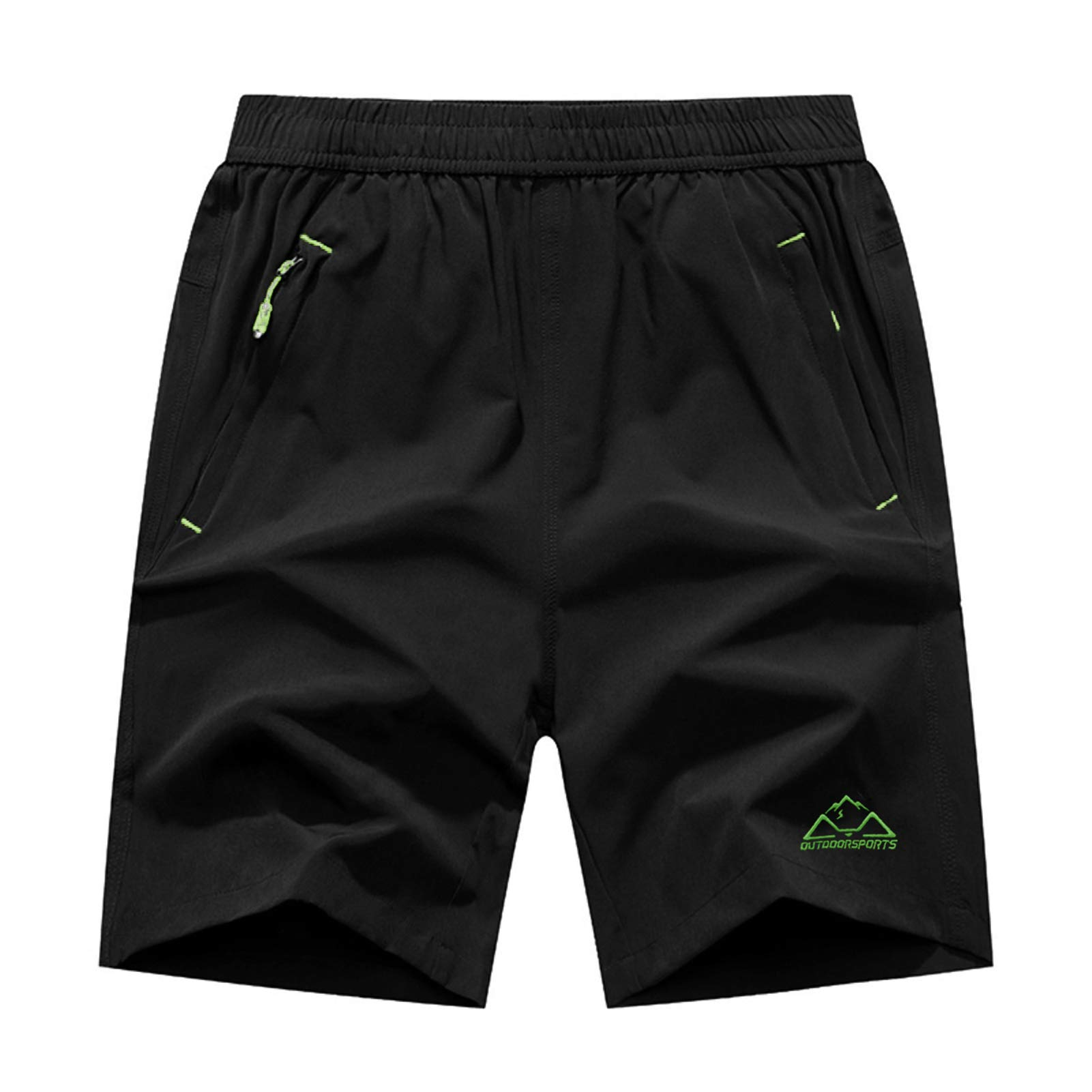 Rdruko Men's Quick Dry Sports Soccer Shorts Lightweight Running Workout Gym Active Shorts with Zipper Pockets