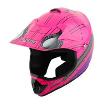 WOW Youth Kids Motocross BMX MX ATV Dirt Bike Helmet Spider Pink