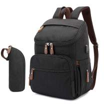 Diaper Bag Backpack, Large Baby Bags with Insulated Pockets&Multi-Function Travel Back Pack Maternity Changing Bags