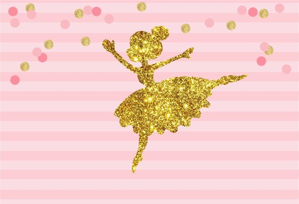 AOFOTO 5x3ft Abstract Little Girl Ballerina in Tutu Dress Dancing Background Baby Shower Party Decoration Photography Backdrop Kid Children Ballet Birthday Banner Photo Studio Props Vinyl Wallpaper