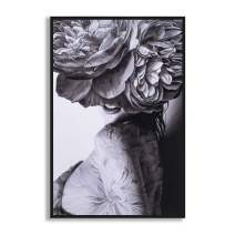 """MOTINI Woman Canvas Prints Body Painting Artwork Black and White Abstract Photograph Contemporary Vintage Modern Framed Wall Art Home Decor, 24"""" x 36"""""""