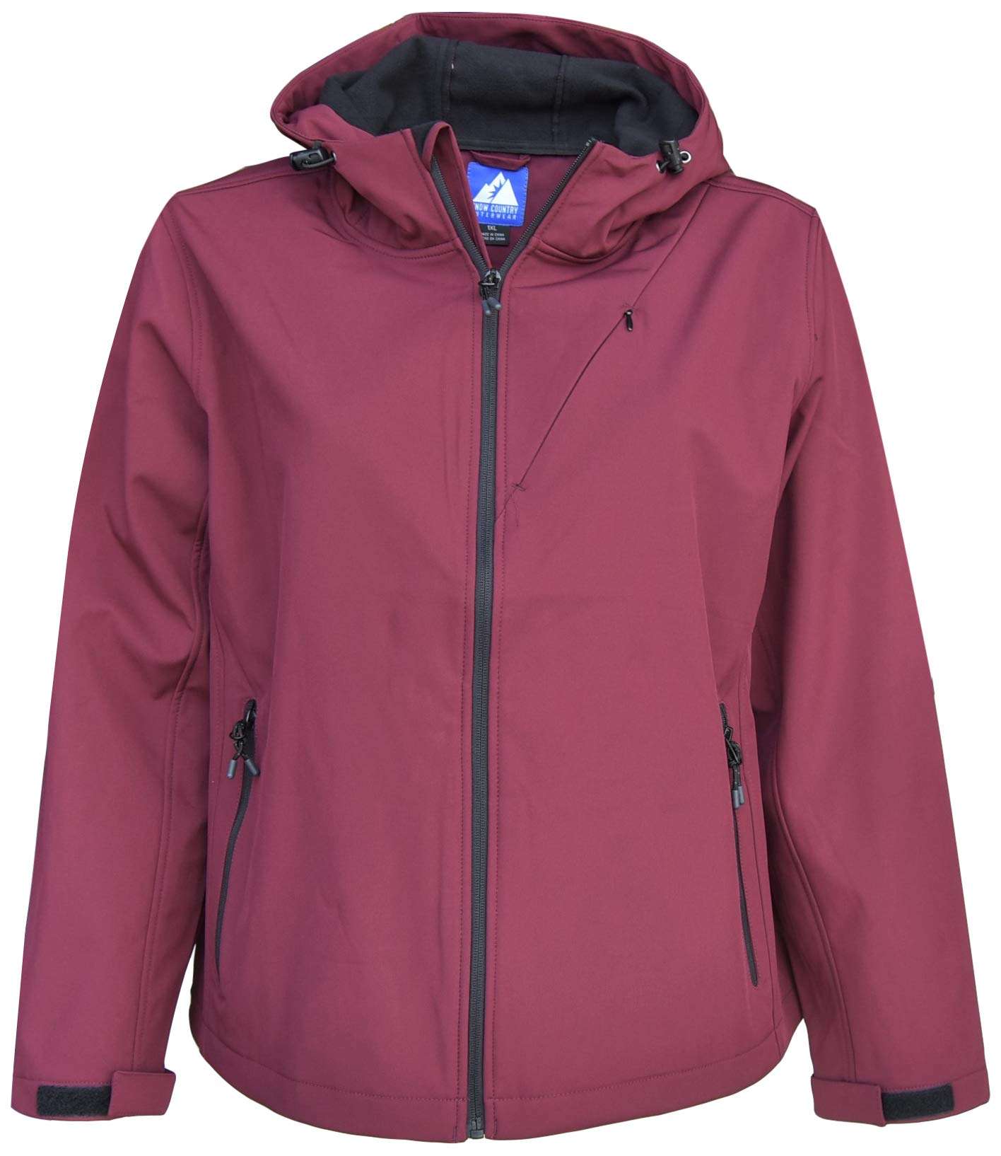 Snow Country Outerwear Women's Plus Size 1X-6X Micro Fleece Soft Shell Jacket Coat