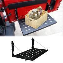 cartaoo Rear Door Foldable Tailgate Table Cargo Shelf Fit for 2007-2017 Jeep Wrangler JK 2/4 Door (JK)
