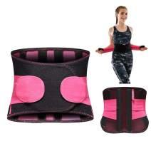Women Men Waist Trainer Belt,TIMTAKBO Lower Back Brace Lumbar Support for Lower Back Pain Relief, Adjustable Flexible Sport Girdle for Waist Trimmer