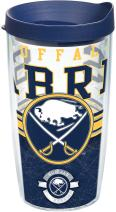 Tervis 1165886 NHL Buffalo Sabres Core Tumbler with Wrap and Navy Lid 16oz, Clear