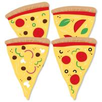 Pizza Party Time - Decorations DIY Baby Shower or Birthday Party Essentials - Set of 20