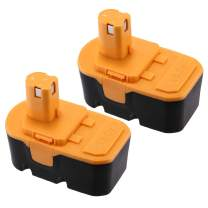 Upgraded 3.7Ah 18V Replacement Battery Compatible for Ryobi ONE+ Ryobi P100 P101 ABP1801 ABP1803 BPP1820 Cordless Power Tools 2 Pack