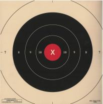 DOMAGRON 50 Yard Red Repair Center Slow Fire Pistol Target of The NRA Target B-6(CT) (100 Pack)