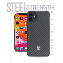 Evutec Karbon Value Case Compatible with iPhone 11 6.1 inch, Thin 0.7mm Slim Light Smooth Real Aramid Fiber Protective Phone Case Scratch Resistant Durable Cover - Black