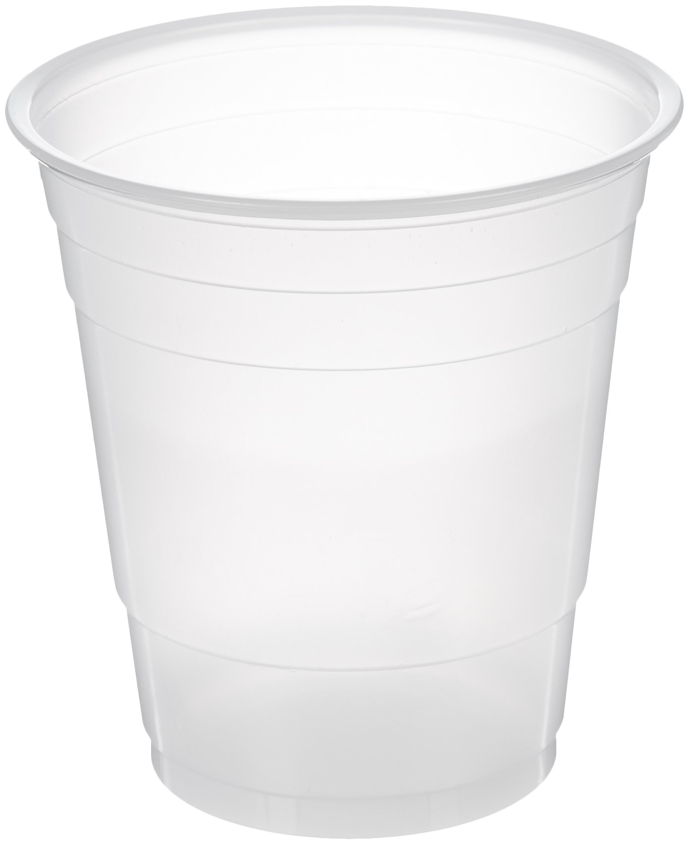 AmazonBasics Plastic Cups, Clear, 9 Ounce, Pack of 100
