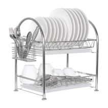 "2-Tier Dish Drainer Dish Drying Rack for Kitchen Countertop 304 Stainless Steel 16.3""(L) x 11""(W) x 17.7""(H)"