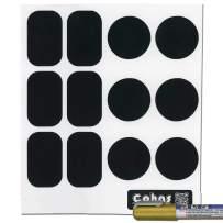 Cohas Chalkboard Labels for kamenstein or CS Household Spice Jars Includes Liquid Chalk Marker and 36 Labels, Fine Tip, Gold Marker