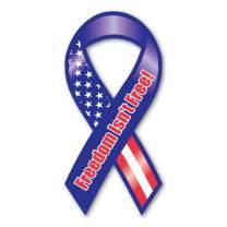 Freedom Isn't Free Mini Ribbon Magnet