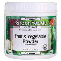 Swanson Fruit & Vegetable Powder 8.11 Ounce (230 g) Pwdr
