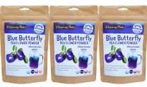 Wilderness Poets, Blue Butterfly Pea Flower Powder, 3.5 Ounce (Pack of 3)