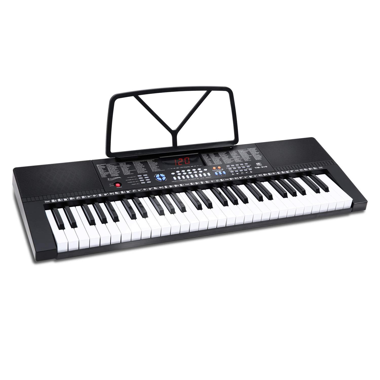 Electric Keyboard Piano 54-Key, Ohuhu Musical Piano Keyboard with Headphone Jack & Teaching Modes for Beginners