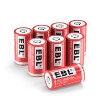 EBL CR2 Rechargeable Batteries, 3.7V 400mAh Lithium Battery for Golf Rangefinder, Laser Boresighter, Laser Pointer, Funifilm Instax Mini55, 8 Pack