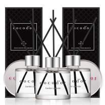 Cocod'or Mini Reed Diffuser/Garden Lavender/1.6oz(50ml)/3Pack/Diffuser Oil Sticks Gift Set, Home & Car Diffuser