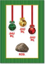 12 Boxed 'Jingle Bell Rock' Christmas Cards with Envelopes 4.63 x 6.75 inch, Cute Jingle Bells and Rock Funny Christmas Cards, Happy Holidays with Hilarious Christmas Carols Parody Cards B5954