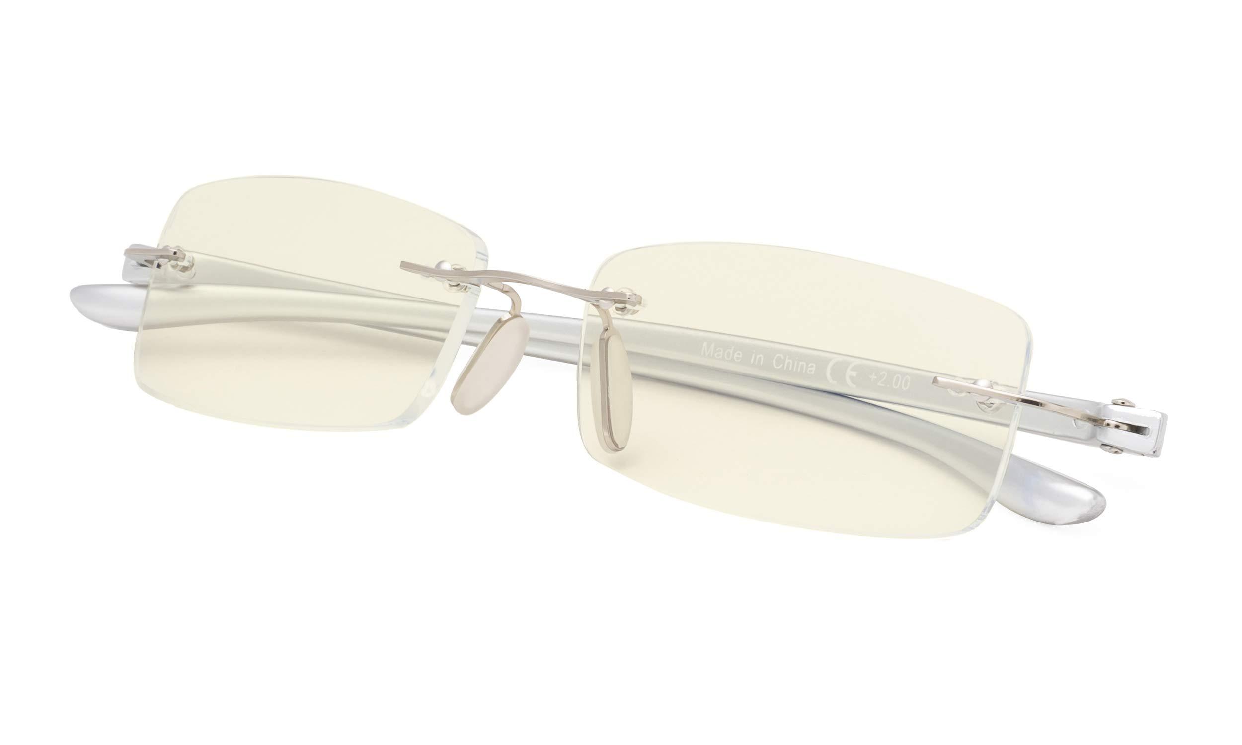 Blue Light Blocking Computer Glasses Anti Eye Eyestrain Unisex(Men/Women) Glasses with UV Protection
