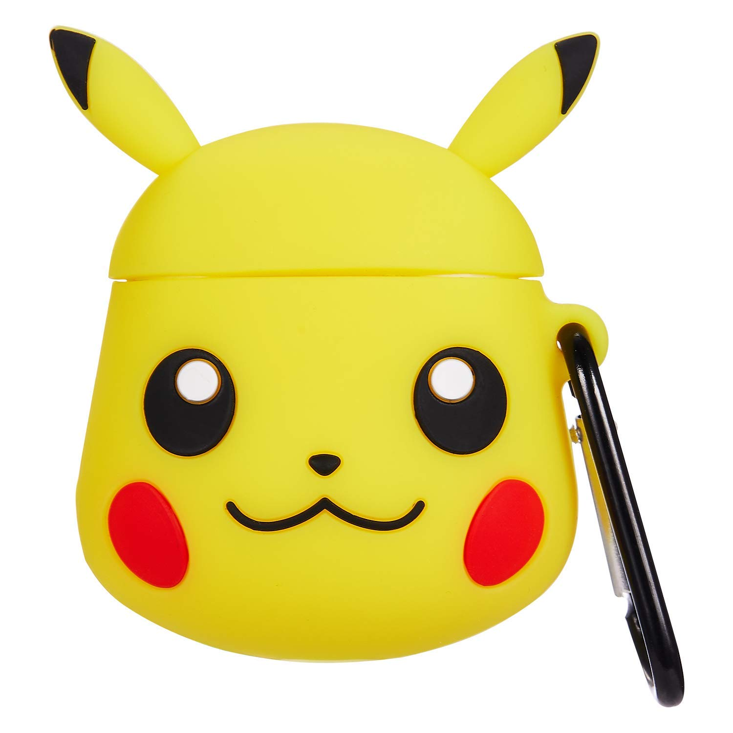 Mulafnxal Compatible with Airpods 1&2 Case,Cute 3D Funny Cartoon Character Silicone Airpod Cover,Kawaii Fun Cool Catalyst Keychain Design Skin,Cases for Girls Kids Teens Boys Air pods(Yellow Pikachu)