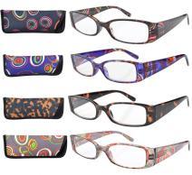 Eyekepper 4 Pairs Pattern Design Reading Glasses for Women Reading +1.50 Stylish Reading Eyeglasses