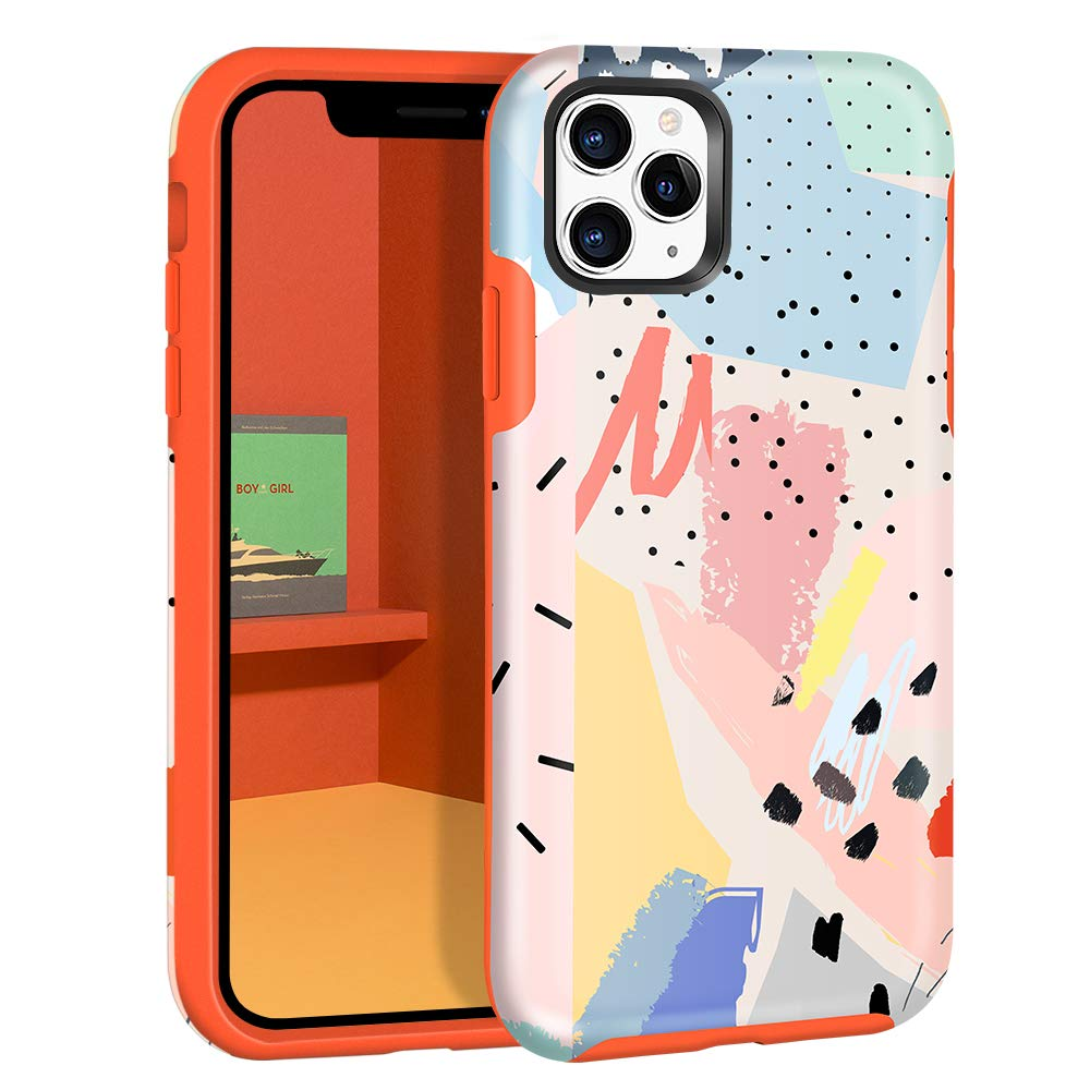 Dutyway iPhone 11 Pro Max Case Graffiti Art Smooth IMD Design Series Shockproof Anti-Scratch Cover for iPhone 11 Pro Max for Girls Women 6.5inch