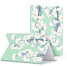 """GVIEWIN Floral Pattern Case for iPad Air (3rd Gen) 10.5 2019 & iPad Pro 10.5"""", Adjustable Multiple Angles Stand Protective Cover Case with Auto Wake/Sleep (Windflower/White)"""