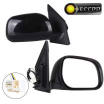 ECCPP Towing Mirrors for 2006-2008 Toyota RAV4 Limited Sport Power-Adjusting Manul-Folding Driver and Passenger Side Mirrors