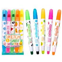 Scentco Sketch & Sniff Scented Gel Crayons 5-Pack