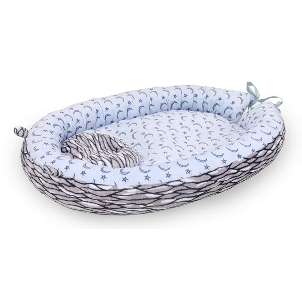 vocheer Baby Bassinet Bed, Baby Lounger Bed Portable Sleeping Crib Head Support Pillow Soft Breathe Mattress for Newborn 0-8 Months