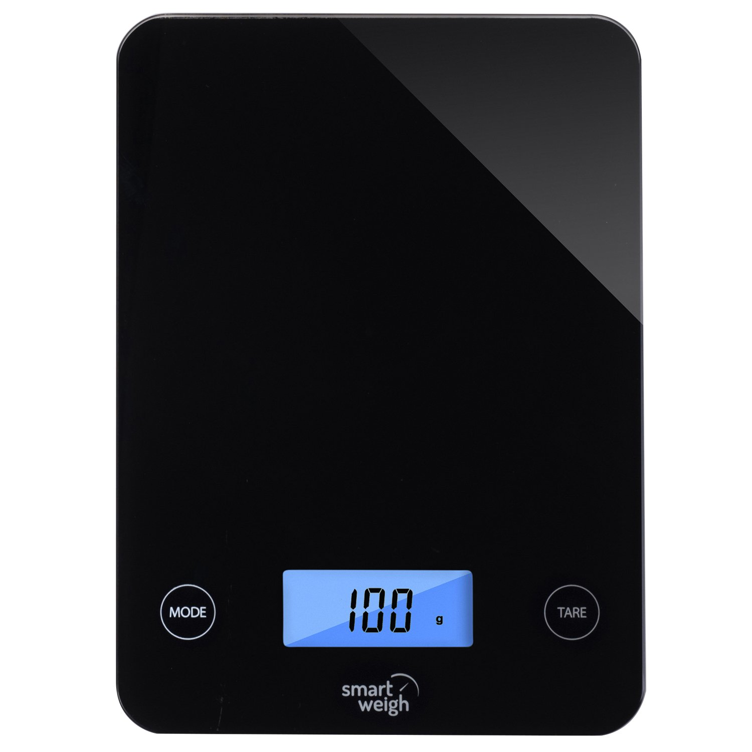 Smart Weigh Digital Glass Top Kitchen and Food Scale, 5- Unit Modes, Liquid Measurement Technology, Professional Design, Black