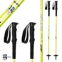 Zipline Ski Poles Carbon Composite Graphite Splash 16.0 Freeskiing - U.S. Ski Team Official Supplier -