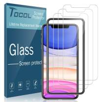 """TOCOL [3Pack] for iPhone 11 and iPhone XR (6.1"""") Screen Protector Tempered Glass HD Clarity Touch Accurate [9H Hardness] Case Friendly with Easy Installation Frame"""