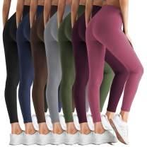 ZOOSIXX High Waisted Leggings for Women - Tummy Control Soft Opaque Slim Pants