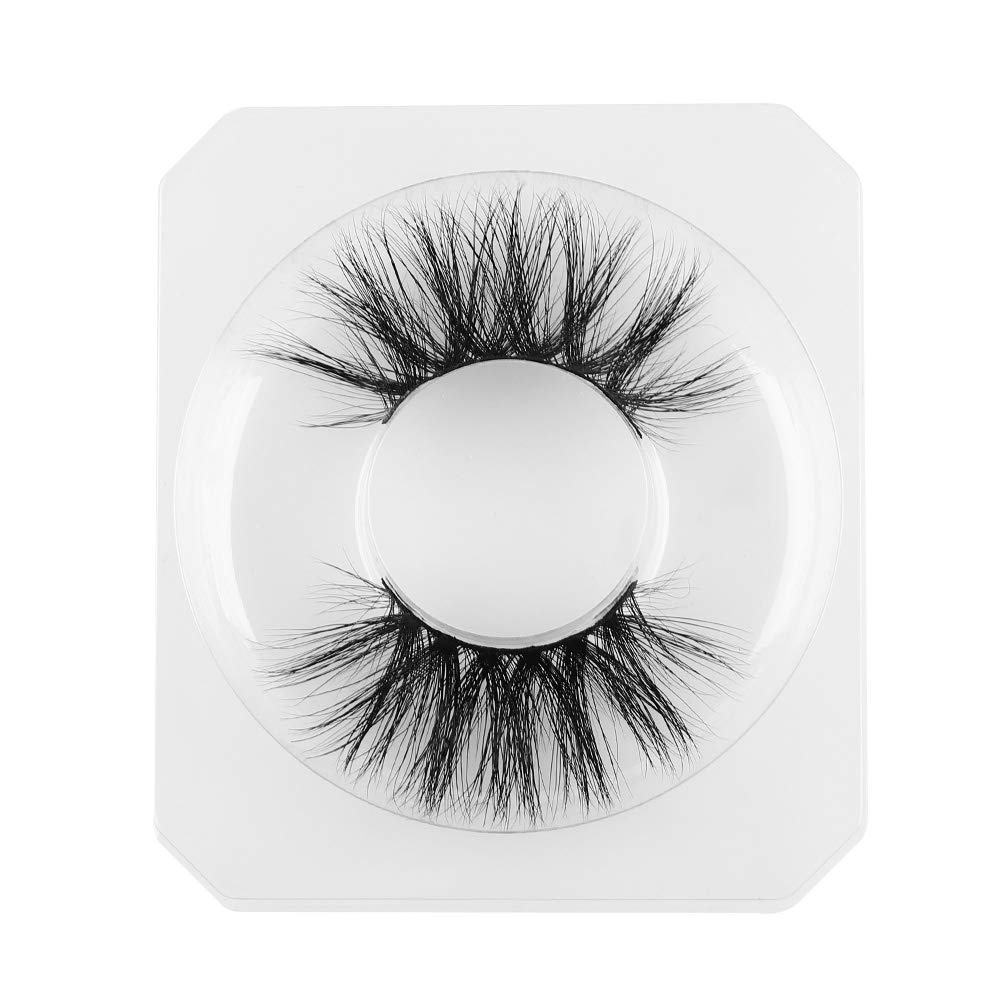 Mink Lashes 100% Mink Fur False Eyelashes Soft Dramatic Look 3D Layered Effect Handmade & Cruelty-Free Reusable Extension 25mm Makeup Tools(T07)