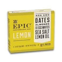 EPIC Performance Lemon Protein Bar, Paleo Compliant (4 Bars)