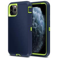 Jelanry Heavy Duty Armor for iPhone 11 Pro Max Case Dual Layer Full Body Protective Shell Shockproof Sports Rugged Phone Case Anti-Scratches Non-Slip Hybrid Case for iPhone 11 Pro Max Blue/Green