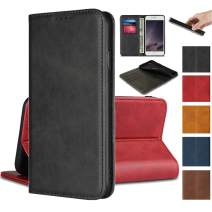 """Jaorty iPhone XR Wallet Case,Premium PU Leather Flip Folio Case Card Slot, Stand Holder Magnetic Closure [TPU Shockproof Interior Protective Case] iPhone XR 6.1"""",Black"""