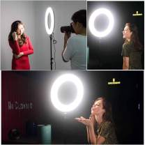 """VILTROX Ring Light with Stand,18"""" LED Dimmable Fluorescent Ring Light, 45W Circle Light VL-600T for Photography Video YouTube Vimeo Portrait Lighting Live Streaming, with Remoter"""