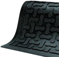 "M+A Matting 430 Comfort Scrape Nitrile Rubber Anti-Fatigue Indoor Floor Mat, 9' Length x 3' Width, 3/8"" Thick, Black"