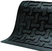 "M+A Matting 430 Comfort Scrape Nitrile Rubber Anti-Fatigue Indoor Floor Mat, 9' Length x 3' Width, 3/8"" Thick, Black"