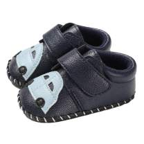 SITAILE Baby Boys Girls Shoes Pu Leather Infant Walking Sneakers Crib Shoes Non Slip Rubber Sole Cartoon Moccasins Slippers Newborn First Walkers Shoes
